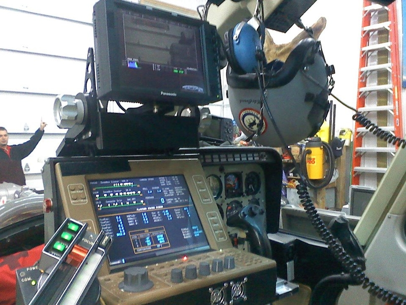 Bozeman Helicopter with Spacecam Cockpit Controls